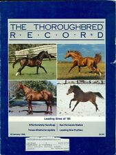 1986 Thoroughbred Record Magazine: Leading Sires/San Fernando Stakes/Texas