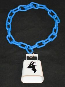 """PLASTIC CHAIN GOAT COLLARS with COW BELL 1 1/2"""" X 3/4"""" LINKS 20"""" LONG"""