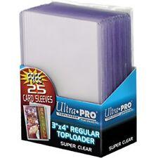 """Ultra Pro Toploader 3""""x4"""" w Free Sleeves Card Holder 25 Pack - Case Top Loader"""