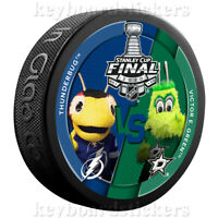 2020 Stanley Cup Final Dueling Hockey Puck Mascot Thunderbug vs Victor E. Green