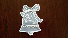 Large,White Guipure Lace,Applique,Trimmings,Wedding -  Bell  Motif -10cm x 7cm