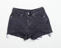 Womens H&M Black Denim Shorts Size 10/L2