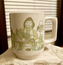 Turi Design Market Coffee Mug Cup Norway Pottery MCM 1960s Green FF Figgjo