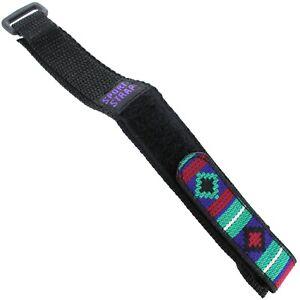 19mm Kreisler Multi-Colored Embroidered Hook & Loop Sport-Wrap Mens Band 148