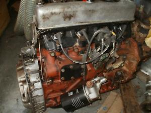 Land rover complete engine includes ancillaries clutch dist w/pump alternator.