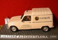 RENAULT 4 F6 INTERFLORA 1986 UNIVERSAL HOBBIES 1/43 NEW R4 TOLEE FLEURISTE