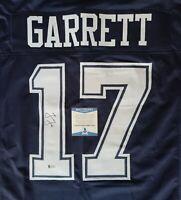 RARE Jason Garrett Dallas Cowboys #17 Signed Auto XL Jersey Beckett BAS COA