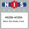 40206-4CE0A Nissan Rotor-disc brake, front 402064CE0A, New Genuine OEM Part
