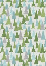 Lewis & Irene, Christmas Trees, 100% Cotton Fabric, Fat Quarter, Patchwork