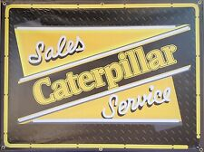 CATERPILLAR SALES/SERVICE TRACTOR NEON STYLE PRINTED BANNER SIGN ART 4' X 3'