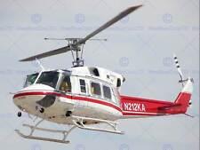 Military Air Craft helicóptero Bell 212HP helicóptero BB901B de imágenes de impresión de arte cartel