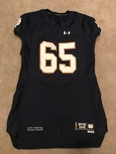 2015 TEAM ISSUED NOTRE DAME FOOTBALL UNDER ARMOUR HOME JERSEY #65