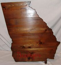 Georgia Large Wood Plaque State Barn Board Wall Hanging Decor Reclaimed Rustic