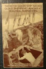 Moulmein Burman British Convict Ship Success Compulsory Bath Postcard