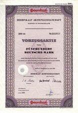 DOORNKAAT AG, Norden, Ostfriesland, Aktie, 500 DM, 1966, lila