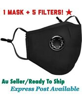 Washable Face mask anti PM 2.5/Virus with Respirator & 5 Filters