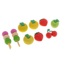 16Pcs Rubber Eraser Kneadable Cleaning Pencil Cartoon Fruits Kids Stationery