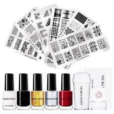 NICOLE DIARY Nail Stamping Polish Kit Stamping Plates Nail Stamper Scraper Set