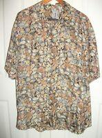 Silk Roundtree & Yorke - Sea Shell Tropical Hawaiian Shirt - Size XL