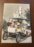 Vintage Walt Disney Mickey Mouse Magnet Donald Duck Minnie Black White Car
