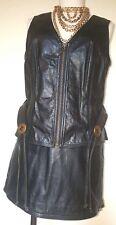 Harley Davidson Black Leather Vest & Skirt Set w/ Belt Size S/M Biker Chic