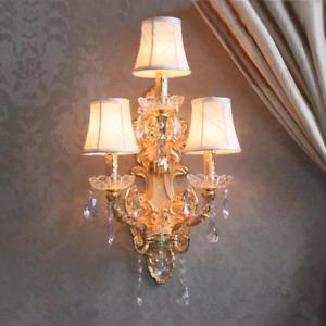 Antique Crystal Wall Lights Sconce Corridor Lamp Living Room Bedside fixtures