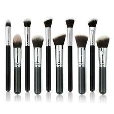 10Pcs Pro Makeup Brushes Set Cosmetic Eyeshadow Face Powder Foundation Lip VIP