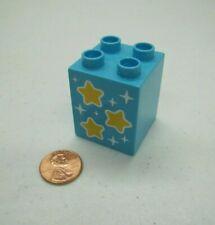 "Lego Duplo CLOTH FABRIC BLANKET 3/"" x 4/"" Purple with White Stars Pattern Genuine"