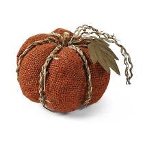 4.8 Inch Orange Burlap Pumpkin by K&K Interiors  #409