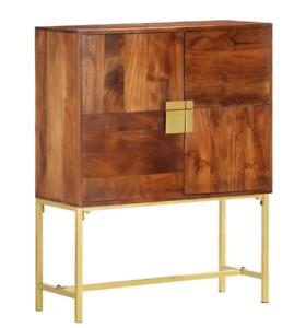 Vintage Side Cabinet Mid Century Sideboard Modern Storage Unit Danish Solid Wood