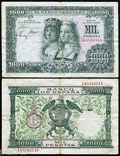 ESPAÑA SPAIN 1000 pesetas 1957 REYES CATOLICOS Pick 149 MBC-/ F