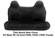 Black Mesh Fabric Bench seat cover Ford F-250,F-350,F-450 Fit 99-2010 Truck's