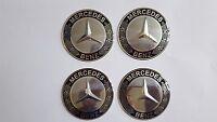 4x65 MERCEDES Benz Black Wheel Center Hub Caps Silicone Badge Emblem Stickers