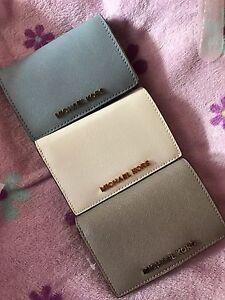 NWT Michael Kors Jet Set Slim Travel Wallet Leather (Mandarin/Blue/Violet)