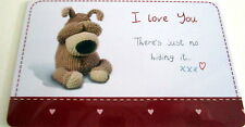 """BOOFLE"" HEART WARMER KEEPSAKE MESSAGE CARD ""I LOVE YOU XX"" VALENTINE'S DAY GIFT"