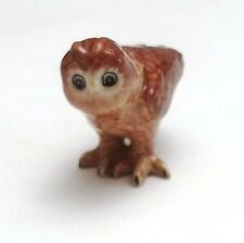 chouette, miniature en porcelaine,hibou collection, vitrine,uil ,owl  **CL10-04