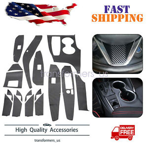 BK Carbon Fiber Car Interior Decor Kits Trim Sticker For Toyota Camry 2018-2021