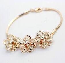 Luxus Armband Gold vergoldet 18K pl. Kristall Rose Geburtstag Weihnachtsgeschenk