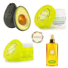 AVOCADO Home Beauty Spa Body SCRUB & BUTTER & OIL for Face Body Hair Set of 3