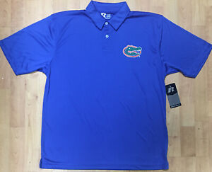 NCAA Florida Gators Men's Large Golf Polo Shirt Made by Russell