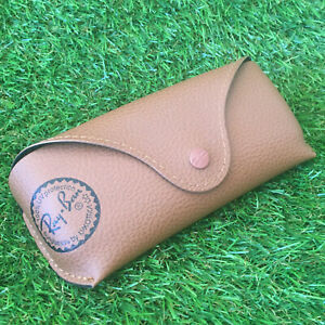 Genuine Ray Ban Sunglasses Case Brown / Tanned Leather Look Excellent Condition