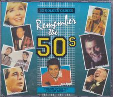 COFFRET 2 CD 32T REMEMBER THE 50's GENE VINCENT/PAUL ANKA/BELAFONTE/JOHNNY RAY