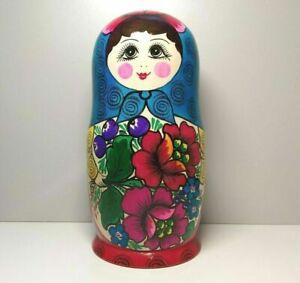 Muñeca rusa de anidación Juego de 10 piezas Matryoshka de madera Hecho a mano