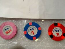Princess Cruise line Casino chips .50 / $1.00 / $5.00 set