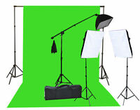 2000 Watt Chromakey Green Screen Video Lighting Kit 10'x20ft Green light kit