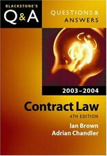 Contract Law (Blackstone's Law Q & A) By Ian Brown, Adrian Chandler