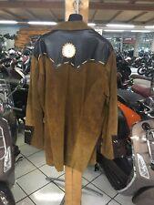 Chopper Leder Jacke Western Handmade Biker Echtleder Indian Style Size XXXL USA