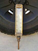Antique Vintage Taylor BINOC Pressure Gauge Heavy Brass Thermometer Steampunk