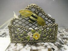 Collette et Cie Bubble Bee And Flower Business Card Holder Enamel Rhinestone