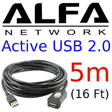 ALFA 5m (16 feet) USB Active Repeater Extension Cable for AWUS036H buffers power
